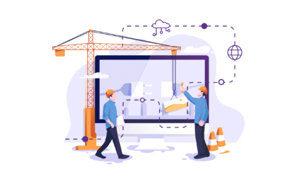 Website Maintenance Illustration of Building a Screen
