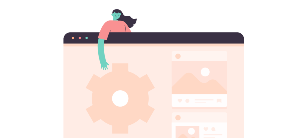 Two People Illustration for Website Maintenance